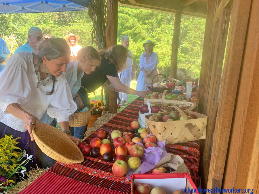 asheville weather workers harvest festival